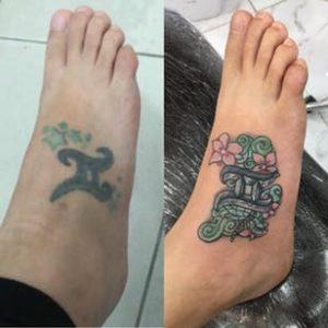 タトゥーカバーアップ刺青