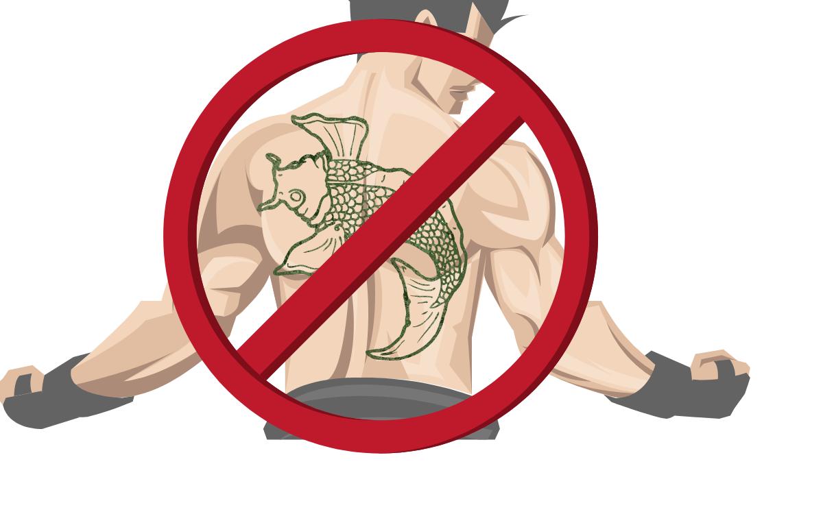 温泉プールタトゥー刺青禁止